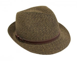 Tweed Straw Fedora with Band- Boardwalk Style