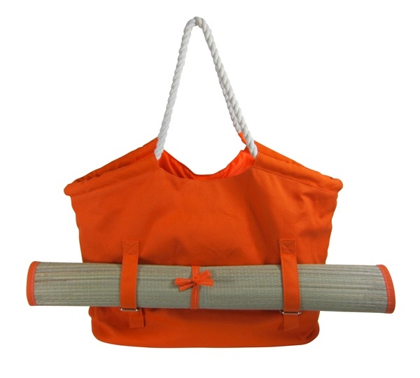 Canvas Beach Tote with Mat-Dynamic Asia