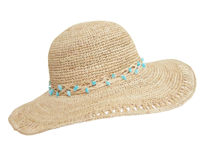 Crochet Raffia Sun Hat-Boardwalk Style