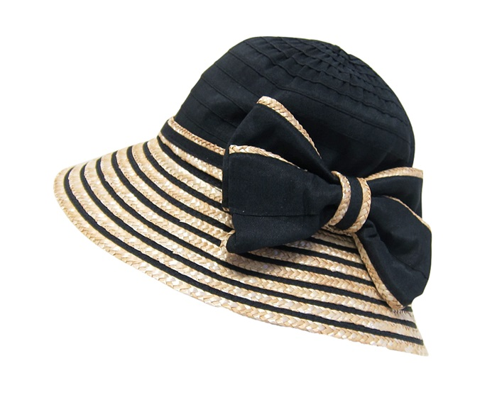 Ribbon and Weat Straw Lampshade Hat-Boardwalk Style