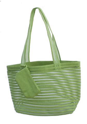 Straw and Mesh Tote Bag- Dynamic Asia