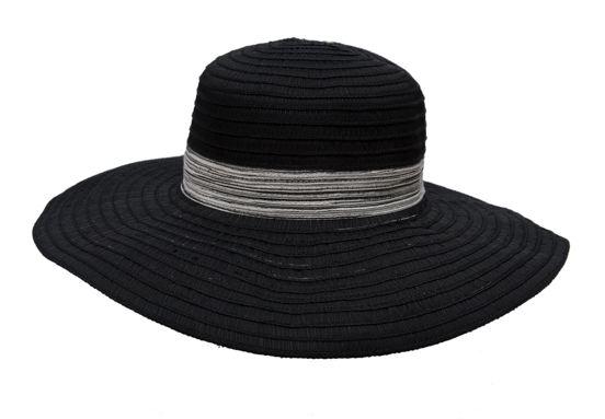 Ribbon Braid Floppy Hat-Boardwalk Style