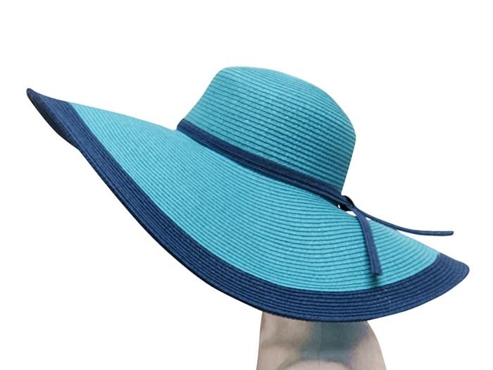 Monochromatic California Blue Wide Brim Sun Hat-Boardwalk Style
