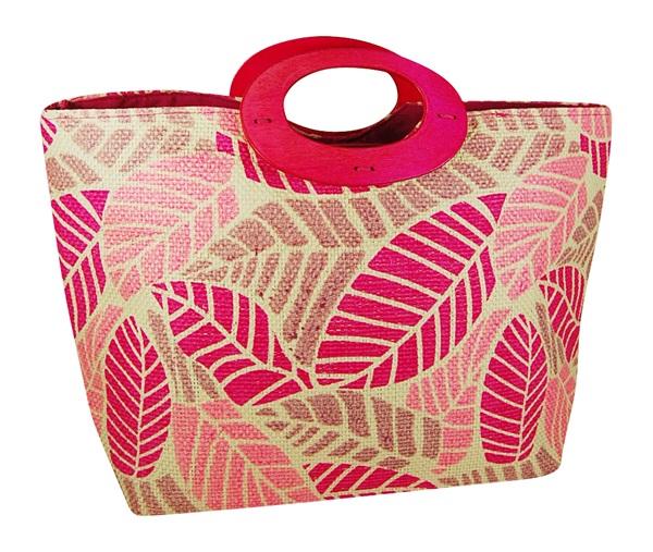 Toyo Tote Bag with Leaf Print-Boardwalk Style