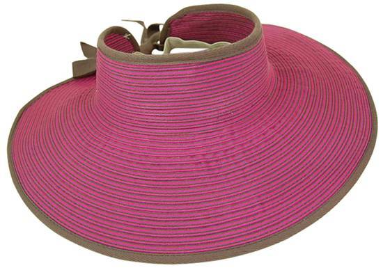 Striped Ribbon Rollup Visor-Boardwalk Style