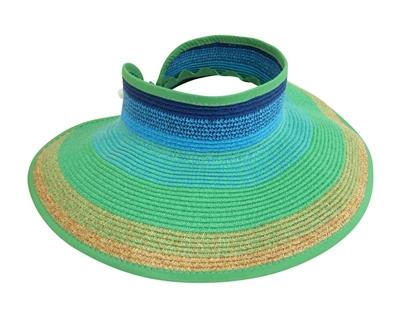 summer sun visors straw rollup visor
