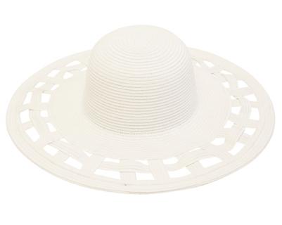 Wide Brim Summer Durby Hat White