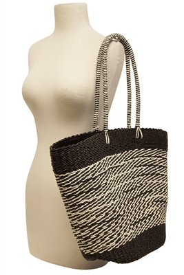 Black Straw Handbags - Boardwalk Style