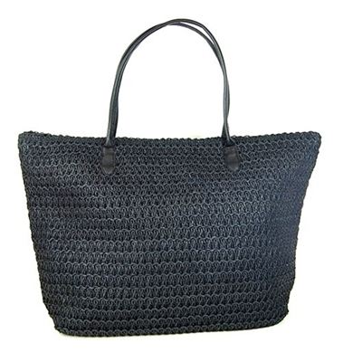 Summer Straw Tote Handbag
