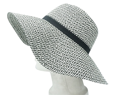 black and white farmers market hats
