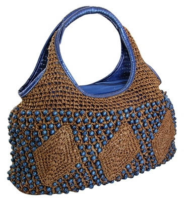 boho ladies straw beach bags