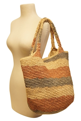 crochet straw trendy beach bag