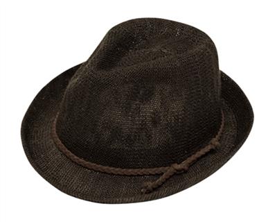 brown fedora ladies hat