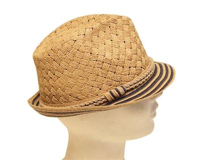 straw fedora ladies hat nautical