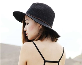 ladies beach panama hats for women nubby knit on model ruby park