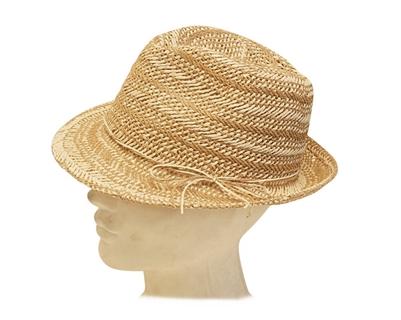 straw fedora hat woman