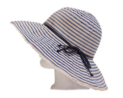 striped ribbon sun hats