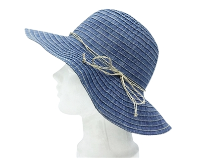 denim ladies ribbon sun hats