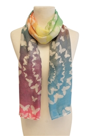 psychedelic summer butterfly beach scarf
