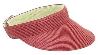 red straw sun visor