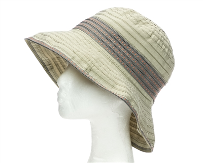taupe shapeable summer bucket hat