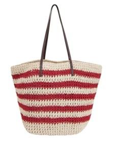 red stripes beach bag accessories