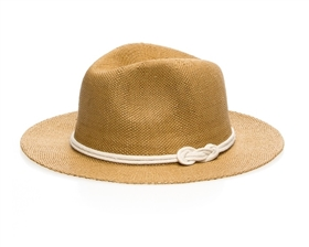 toyo straw panama hat with sailor knot