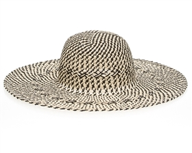 two tone twisted straw sun hat