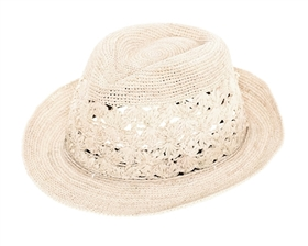 ladies trilby straw hats