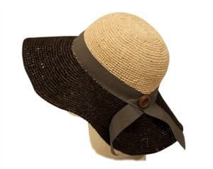 hand crochet raffia sun hats