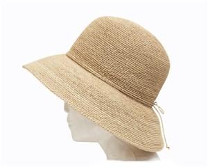hand crocheted organic raffia straw hats