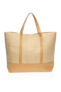 horizontal stripes cute beach bag
