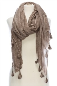 lightweight scarves tied with tassels