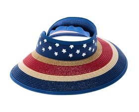 patriotic sun protection hats for women