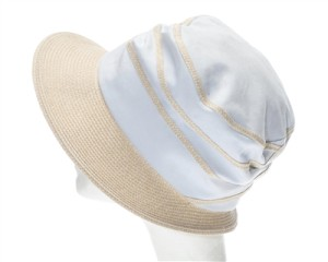 straw and canvas bucket hat for women la
