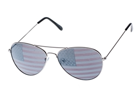 Sunglasses USA American Flag Aviator Sunglasses
