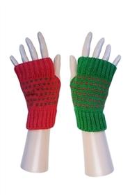 Opposites Day Fingerless Gloves