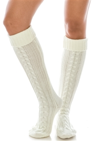 Cable Knit Boot Socks