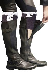 Scallop Lace Boot Cuffs