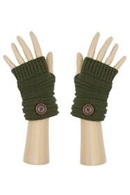 Short Fingerless Gloves w:Button
