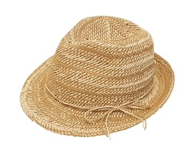 handwoven straw fedora ladies hat 265e7000287a