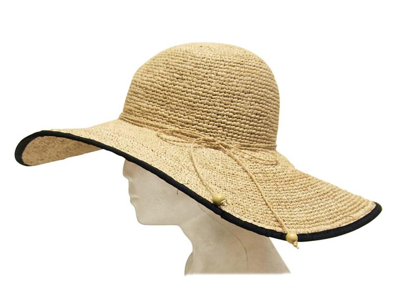 Fine Raffia California Beach Sun Hat Boardwalk Style